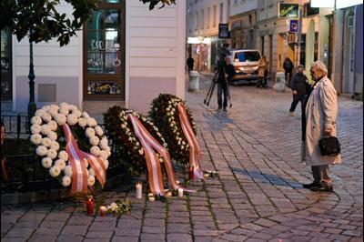 На месте теракта в Вене